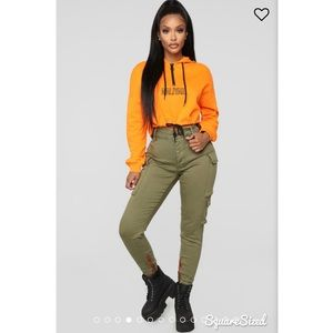 a42ea5fc3f6 Fashion Nova Tops | Aaliyah Cropped Hoodie Orange | Poshmark
